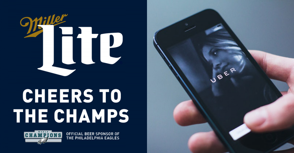 Miller Lite offers Uber rides for Philly victory parade